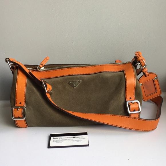 4ebf712c794a45 Prada Bags | Authentic Olive Green Cylinder Bag Euc | Poshmark